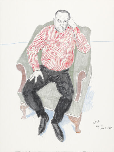 David Hockney, 'Charlie Scheips', 2018-2019