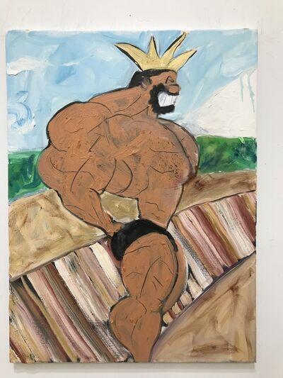 Erik Hanson, 'Oil painting portrait of Bluto: 'Muscle Monday'', 2017