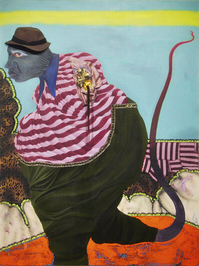 Simphiwe Ndzube, 'Figure with a Whip Leg', 2019