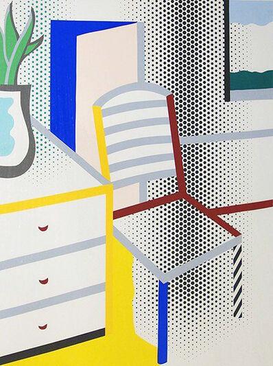 Roy Lichtenstein, 'Interior with chair from the portfolio of Leo Castelli's 90th Birthday', 1997