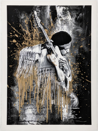 Mr. Brainwash, 'JIMI (GOLD)', 2015