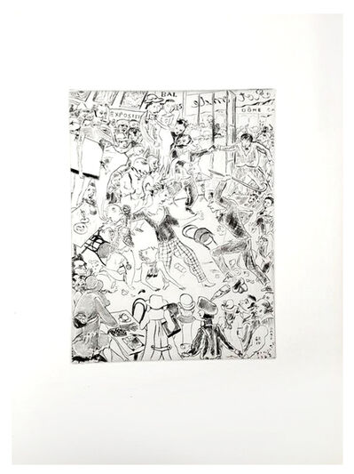 "Léonard Tsugouharu Foujita, 'Original Etching ""Paris"" by Léonard Foujita', 1927"