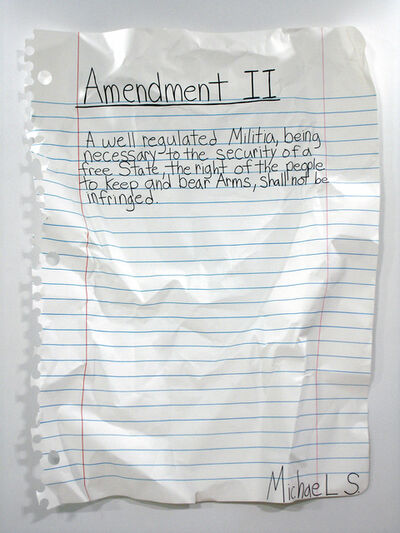 Michael Scoggins, 'Amendment II', 2008