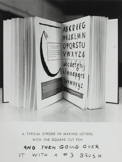 William Wegman, 'Typical Stroke', 1974