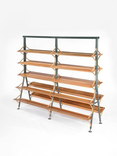 Bruno Mathsson, 'Anita – A freestanding Library Bookcase in enamelled steel and pine, Manufactured by Dux Industries, Sweden', ca. 1960