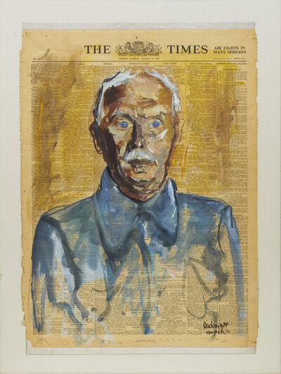 Hugo Puck Dachinger, 'Portrait of a Man: Wilhelm Hollitscher (Huyton Internment Camp, Liverpool)', 1940