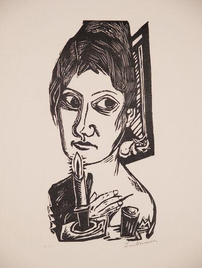 Max Beckmann, 'Frau mit Kerze', 1920