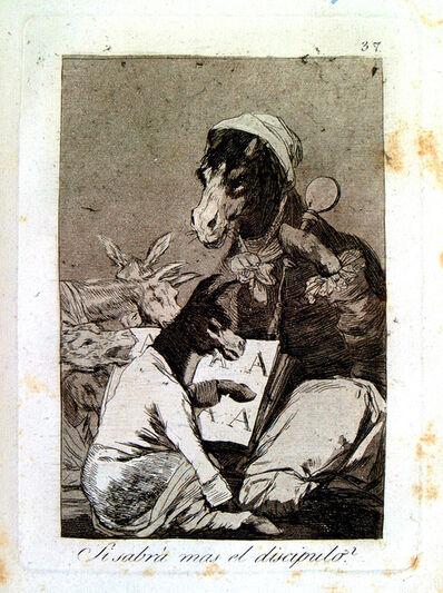 Francisco de Goya, 'Si sabrá mas el discípulo', 1799