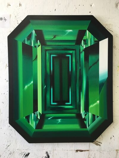 "Kurt Pio, '""Green Emerald""', 2019"