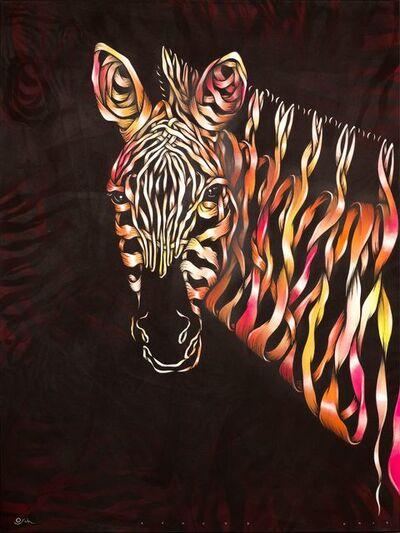 Otto Schade, 'Zebra head ', 2018
