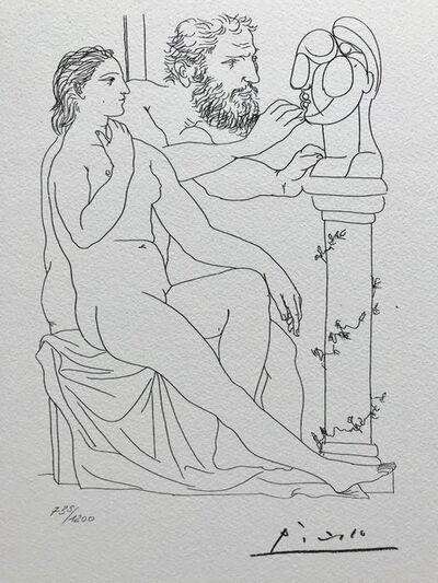 Pablo Picasso, 'Modèle sculpteur et sa sculpture (Suite Vollard Planche XXXVIII)', 1973