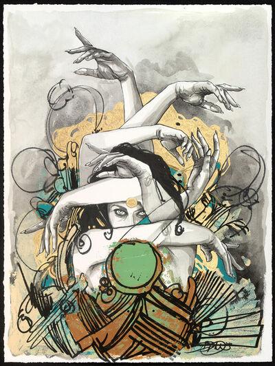 "Brandon Boyd, '""Bruja"" Hand Embellished & Unique Giclee Print', 2021"