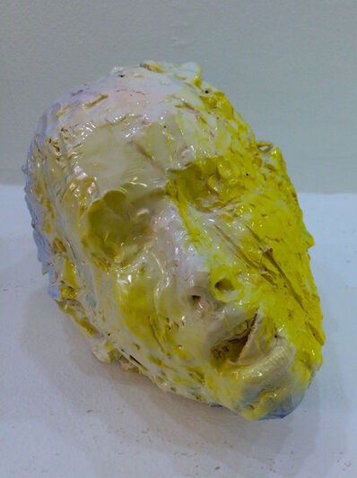 Meghan Smythe, 'Yellow Majolica (Head)', 2015