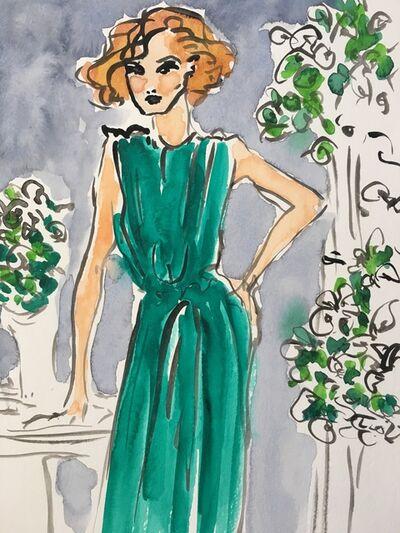 manuel santelices, 'Green Dress', 2018