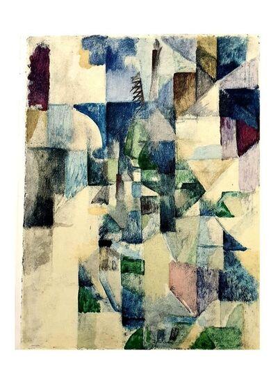 """Robert Delaunay, 'Pochoir """"La fenêtre no. 2"""" after Robert Delaunay', 1957"""