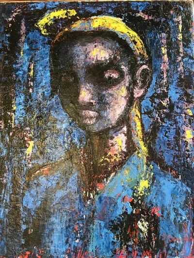 Gerard Sekoto, 'Portrait Bleu (Girl)', ca. 1970