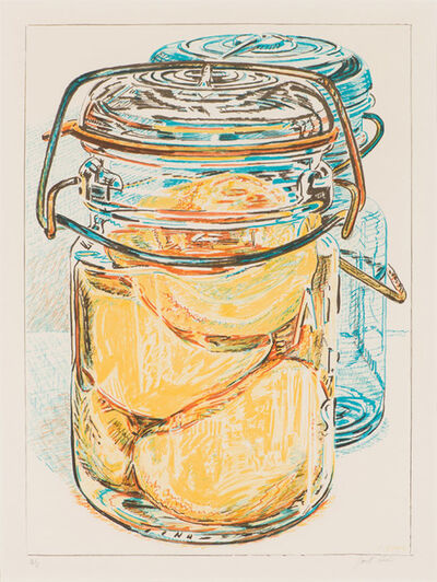 Janet Fish, 'Preserved Peaches, from 1776 USA 1976: Bicentennial Prints', 1975