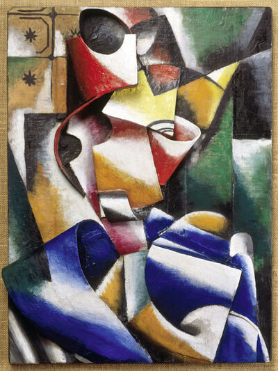 Liubov Popova, 'Portrait of a Lady (Plastic Drawing)', 1915