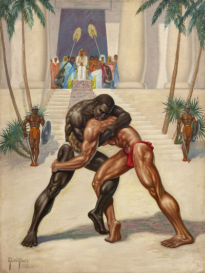 George Quaintance, 'Egyptian Wrestlers', 1952