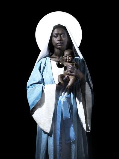 Nicolas Demeersman, 'Rewrite history in black - The Virgin and the Child', 2016