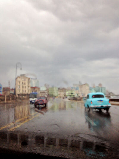 Suat Akdemir, 'AbstractCuba Series 'Havana in the Rain'', 2015