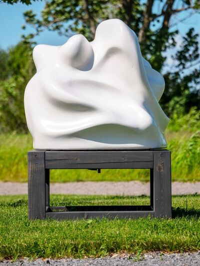 Tim Forbes, 'Courage - white, swirling, gestural abstract, resin, outdoor sculpture', 2019