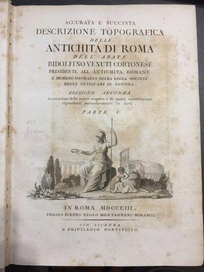 Ridolfino Venuti, 'Accurata e succinta descrizione topografia delle Antichità di Roma', 1803