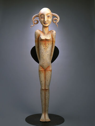 Patti Warashina, 'Queen with Fan', 2001