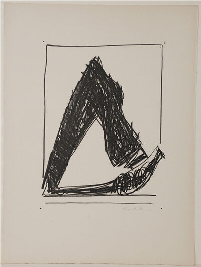 Robert Motherwell, 'Summertime in Italy (with crayon)', 1966