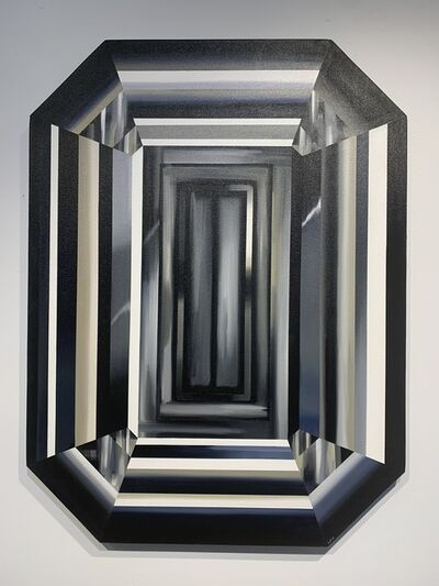 "Kurt Pio, '""Black Emerald Cut"" ( large ) ', 2018"