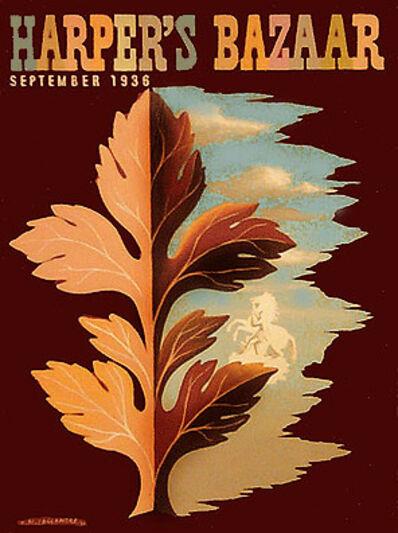A.M. Cassandre, 'HARPER'S BAZAAR SEPTEMBER 1936 LEAF ME ALONE - MAQUETTE', 1936