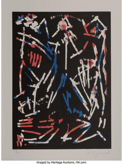 A.R. Penck, 'Mul, Bul Dang & Sentimentality, from Official Arts Portfolio of the XXIVth Olympiad, Seoul, Korea', 1988
