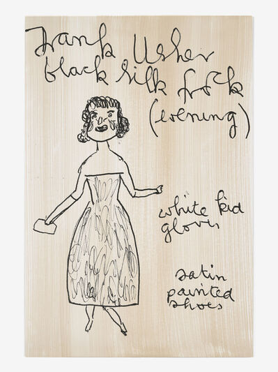 Rose Wylie, 'RW, Evening Frank Usher', 2019