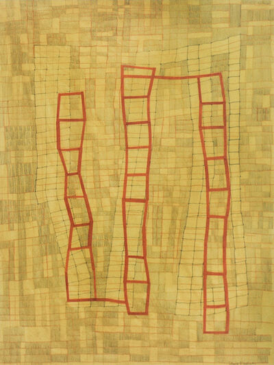 Donise English, 'Yellow & Red Grid', 2020