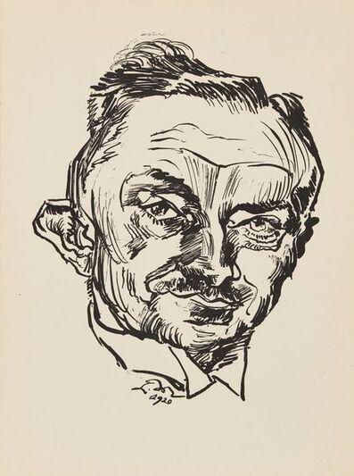 Ludwig Meidner, 'Portrait of Dr Victor Heinrich Klinkhardt III', 1920