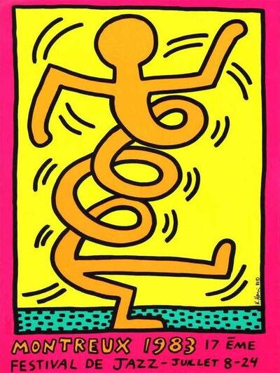 Keith Haring, 'Montreux Jazz Festival, 1983 (Pink)', 1983