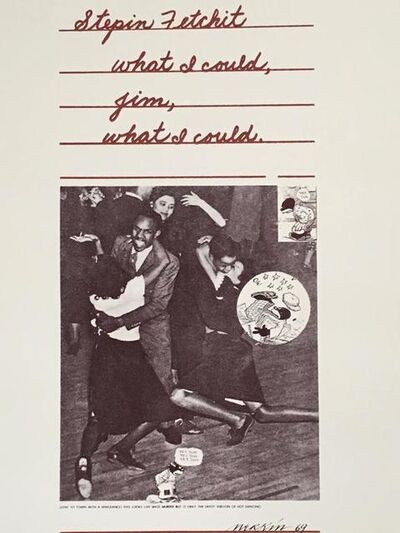 Richard Merkin, 'Stepin Fetchit Pop Art 1969 Color Screenprint Richard Merkin', 1960-1969
