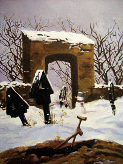 MARTIN GALLE, 'Cemetry In Snow', 2008