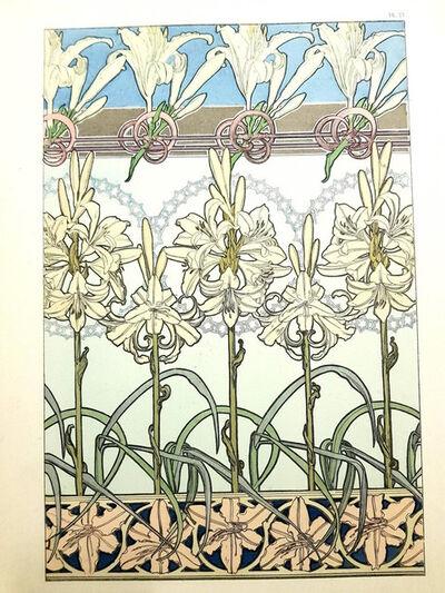 """Alphonse Mucha, 'Original Lithograph """"Flowers"""" by Alphonse Mucha', 1902"""