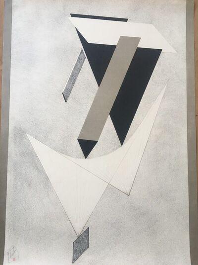 El Lissitzky, 'Plate 3, from 1. Kestnermappe Proun', 1923