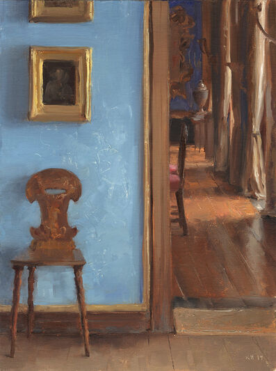 Kenny Harris, 'Chair with Blue wall, Bantry House', 2019