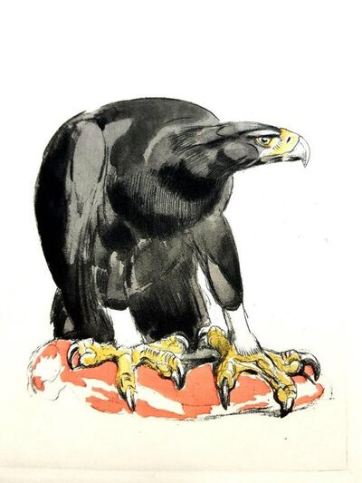 """Paul Jouve, 'Original Etching """"Eagle"""" by Paul Jouve', 1950"""