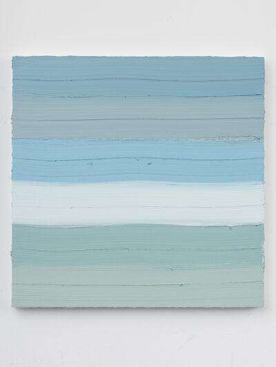 Jason Martin, 'Untitled (Mixed white / Emerald green / Sepia) II ', 2019