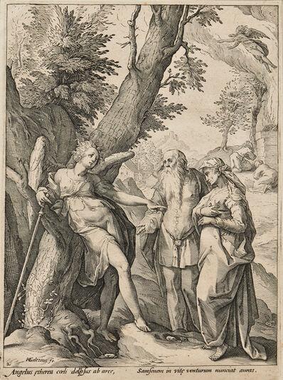 Hendrik Goltzius, 'The Angel Announcing the Birth of Samson', c. 1586