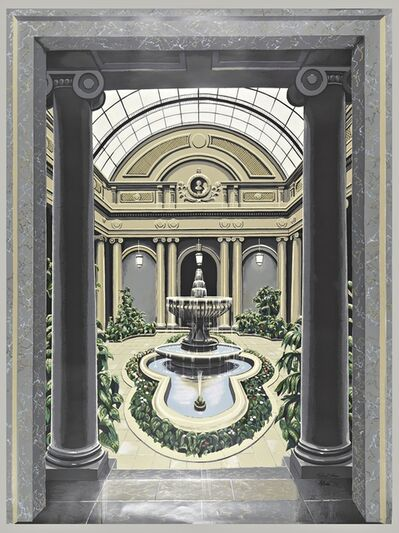Richard Haas, 'Scenic Panel, Garden Court, The Frick Museum', 1977