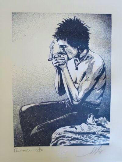Shepard Fairey, 'Sid smoking', ca. 2016