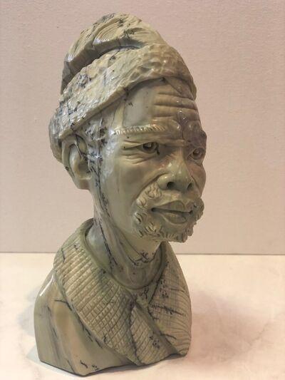 Aron Kapembeza, 'African Man Stone Sculpture'