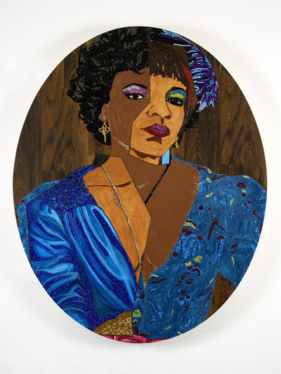 Mickalene Thomas, 'Portrait of Temika', 2014