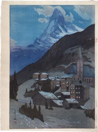 Yoshida Hiroshi, 'Europe Series: The Matterhorn at Night', 1935
