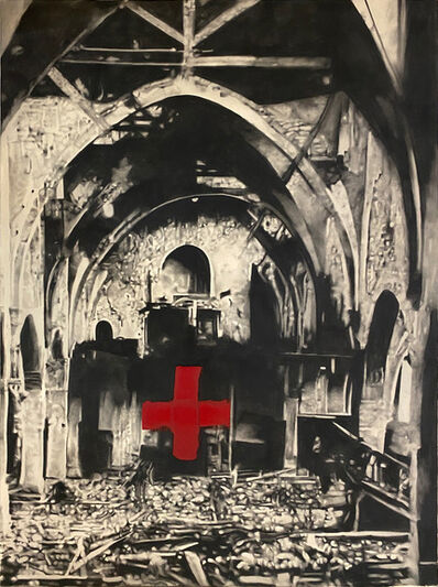 Marc Séguin, 'Ruins with Cross (Red)', 2011